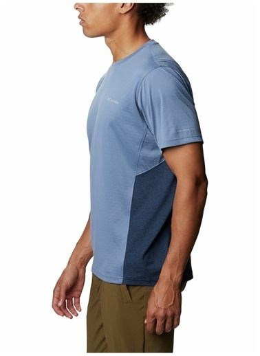 Columbia Columbia Erkek Mavi Bisiklet Yaka T-Shirt Mavi